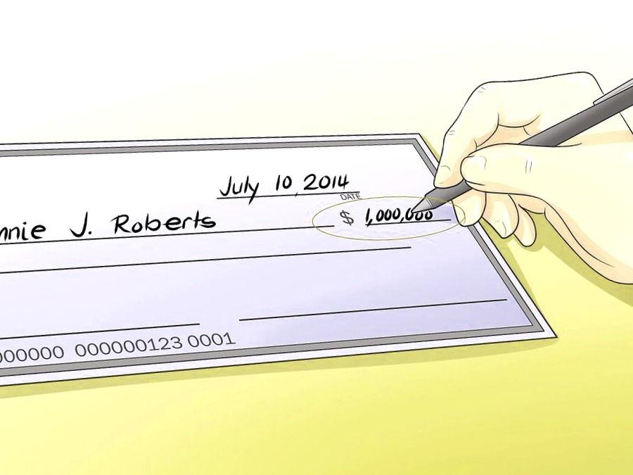 Rellenar el importe del cheque