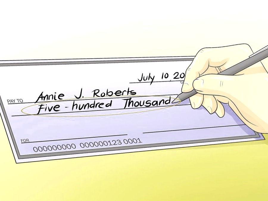 Llenar importe del cheque en letra