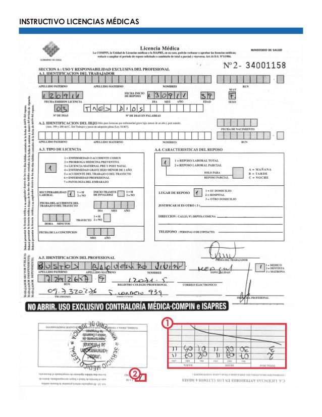Como llenar una licencia medica